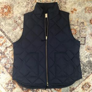 JCrew Quilted Puffer Vest, Navy, XL